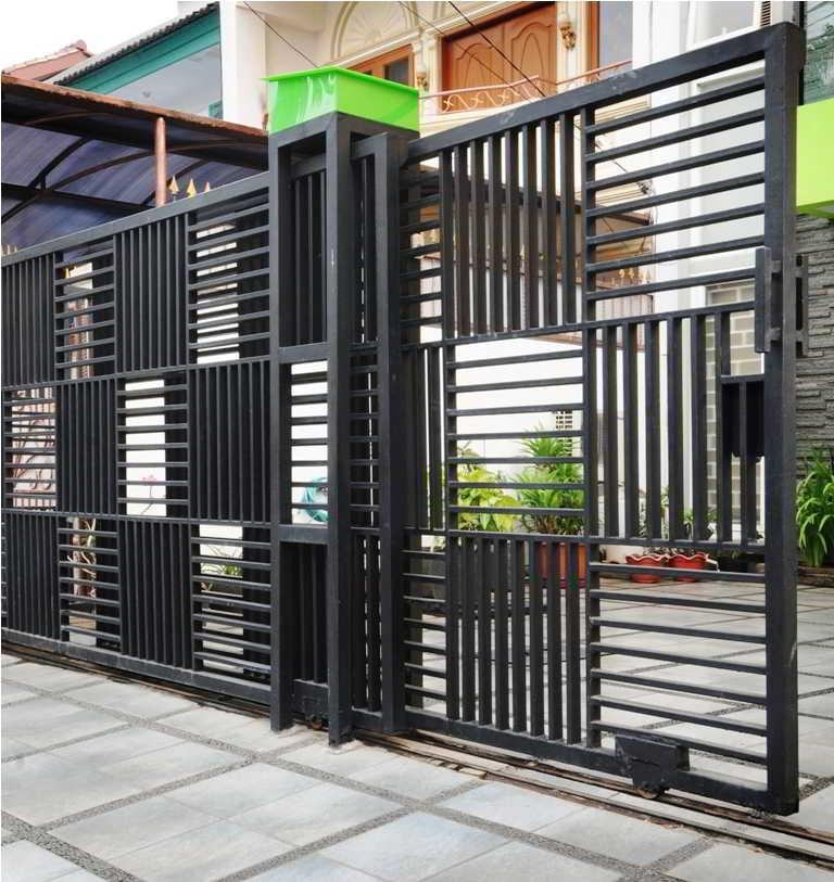 Pintu Pagar Rumah Aluminium Model Rumah Minimalis