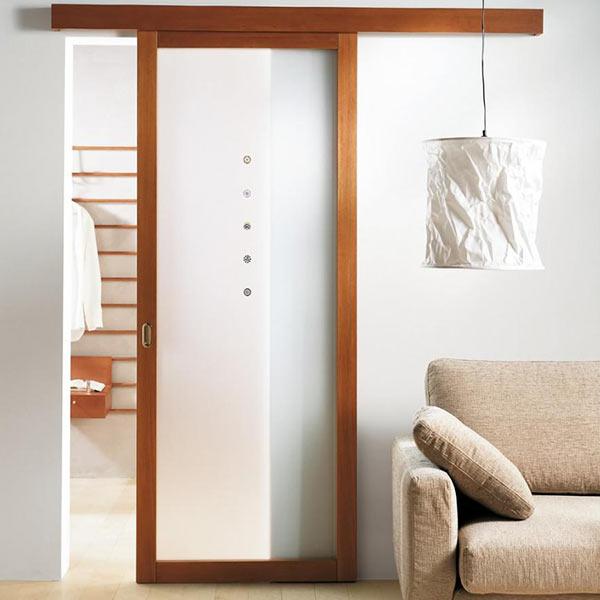 Pintu Kamar Mandi Kaca dan Kayu