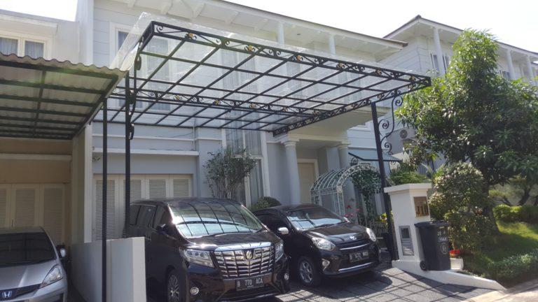 kanopi atap kaca minimalis