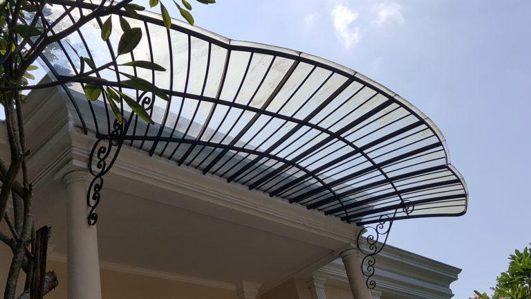 kanopi atap kaca laminated