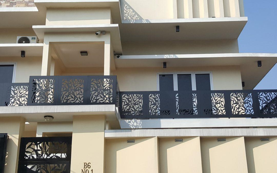 railing balkon laser cutting